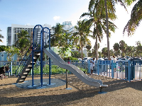 The slide at 46th Street Beach.