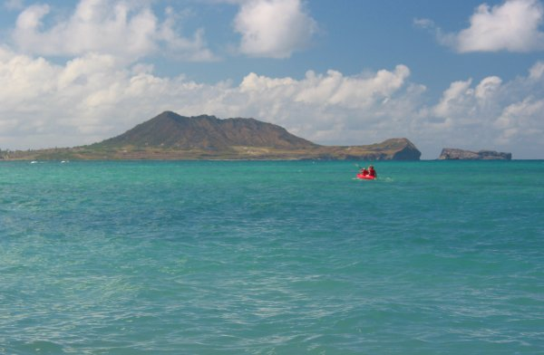 Views of Turtle Head while kayaking at Lanikai.