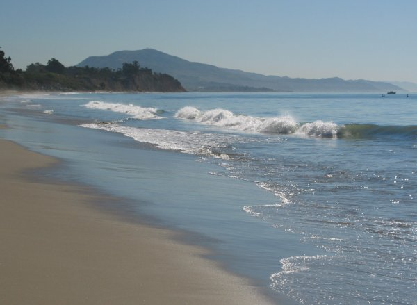 Summerland Beach- the nicest part- looking to the east.