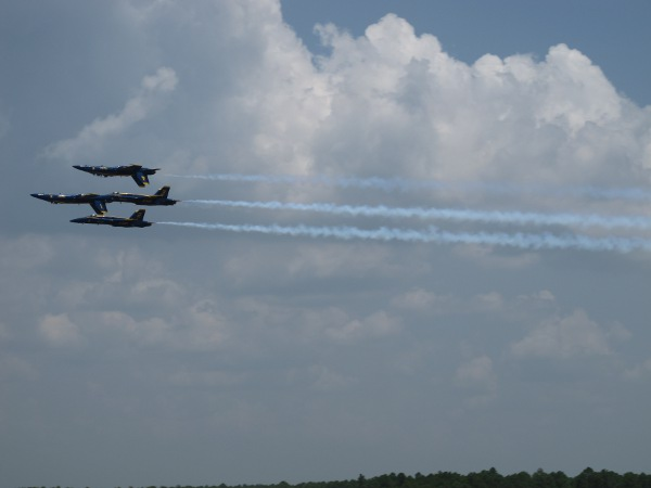 The Blue Angels...four planes flying incredibly close together!