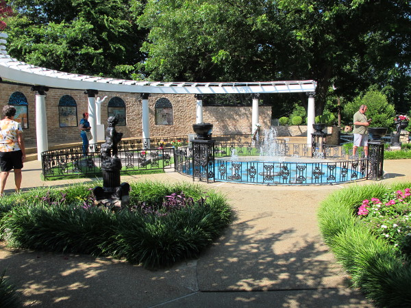 The meditation garden, where Elvis is buried.