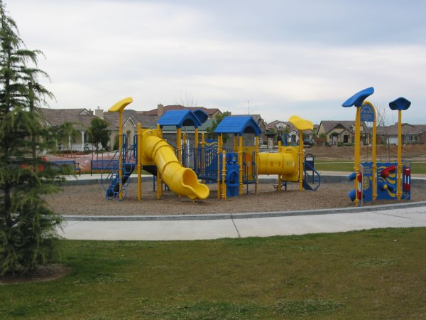 The playground for smaller kids- a lot of fun!