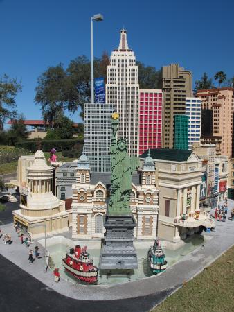 New York New York in Las Vegas, made of lego.