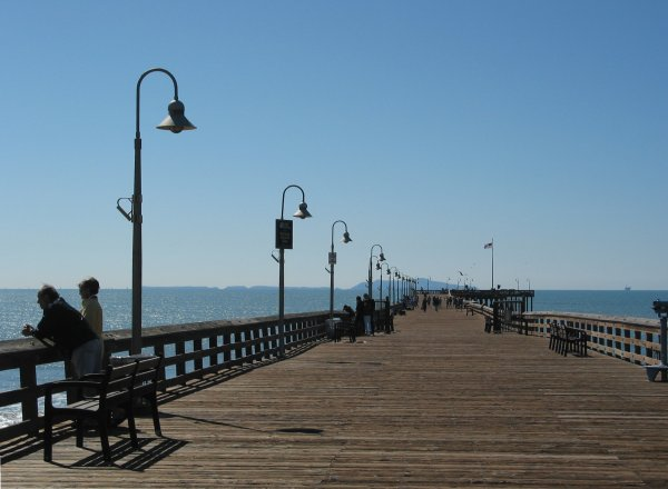 Take a stroll on the wooden pier...
