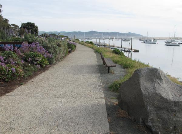 Walkway from the main tourist area to Tidelands Park.