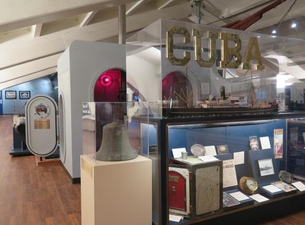 Exhibit about the wreck of the Cuba.