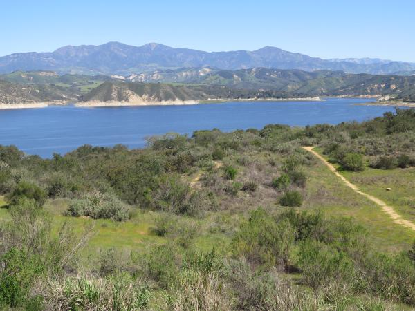 Lake Cachuma, looking beautiful in March 2017, after some rains.