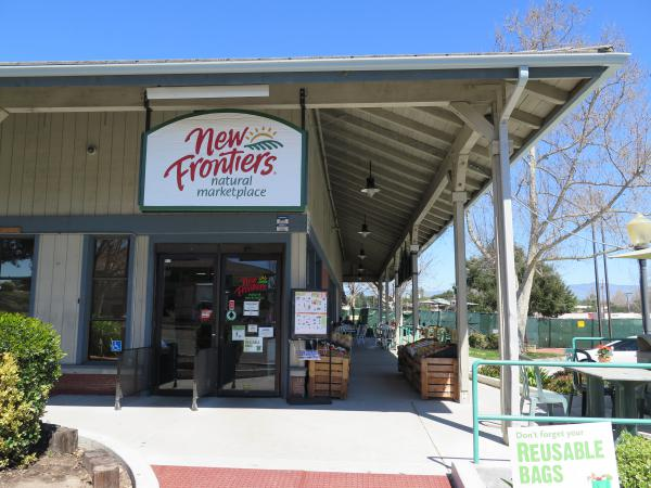 New Frontiers is a great organic marketplace with a sunny patio where you can eat your deli purchases.