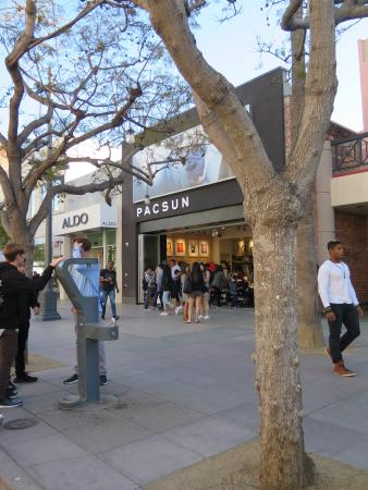 Pacsun- there's a good selection of stores here!