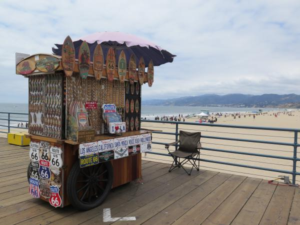 Santa Monica Beach and Pier, Los Angeles California