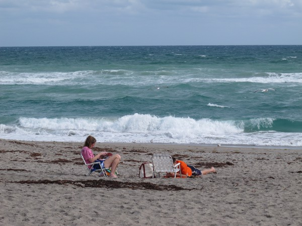 Hobe Sound Beach, which you reach at the end of the walk.