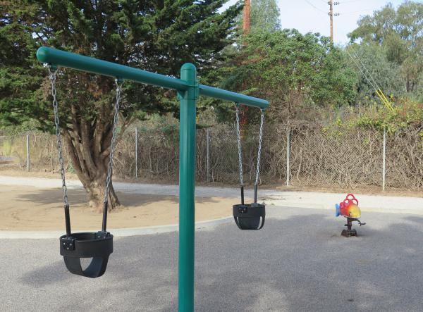 Baby swings and dolphin bouncy.