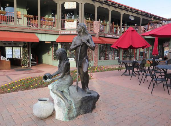 Sculpture at Sinagua Shopping Plaza.