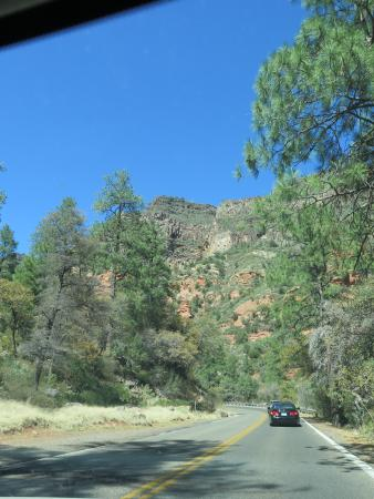 Driving to Slide Rock...