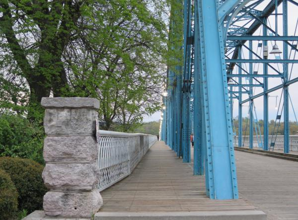 Take a stroll along the Walnut Street Bridge after enjoying a treat at Ice Cream Show.