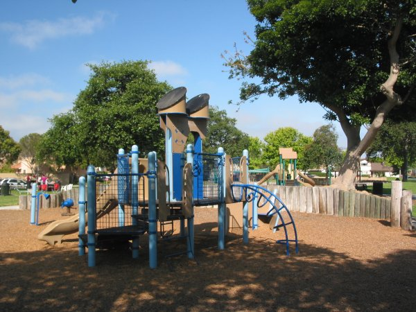 Two playgrounds at Seaview Park.