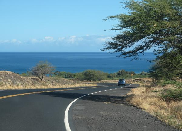 Highway 19 on the Kohala Coast, north of Kona.