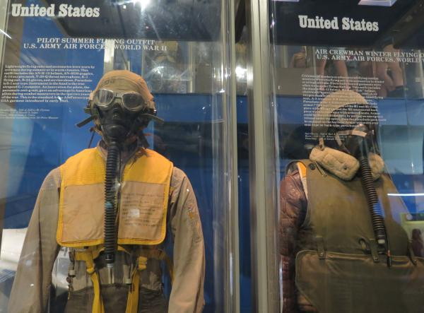 US Army Air Force summer and winter flying outfits, World War II.