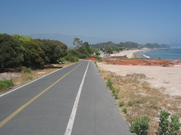 The bike path as it continues past Goleta Beach up to UCSB- stunning ocean views!