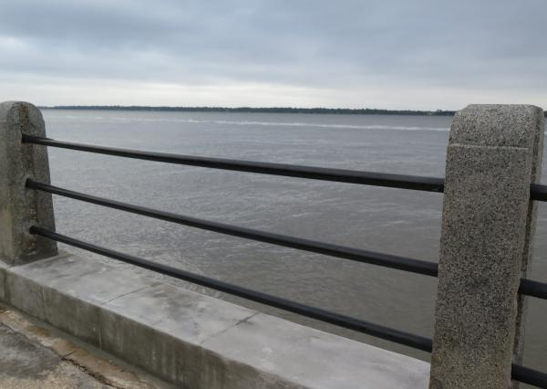 View from the riverfront promenade.