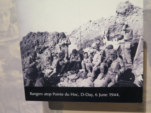 Rangers atop Pointe du Hoc, on D-Day.