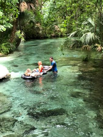 Family ride down the lazy river!