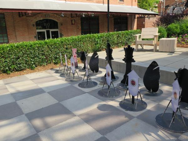 Giant chess set.