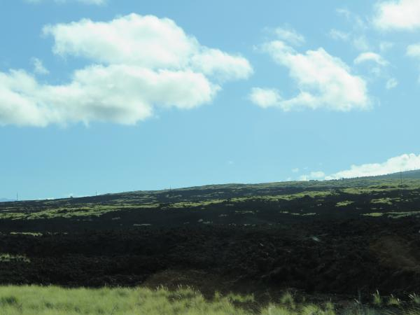 Highway 19, along the Kohala Coast, takes you past some amazing black lava rock.