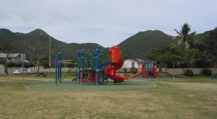 Kalama Valley Playground, Oahu Hawaii