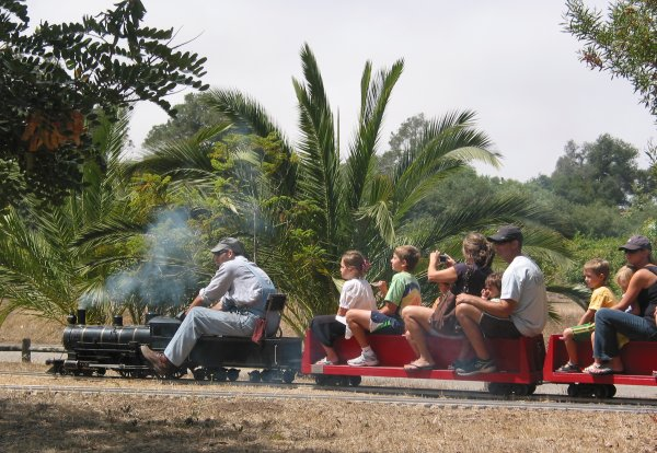 A ride on the steam engine.
