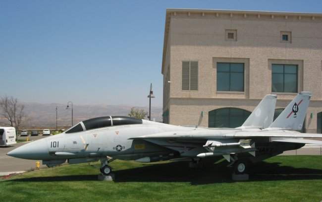 F14 Tomcat. In the garden, we met a pilot who had flown one of these babies!