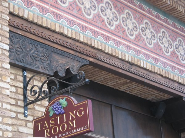 Decorative exterior of the tasting room at Old Town Camarillo.