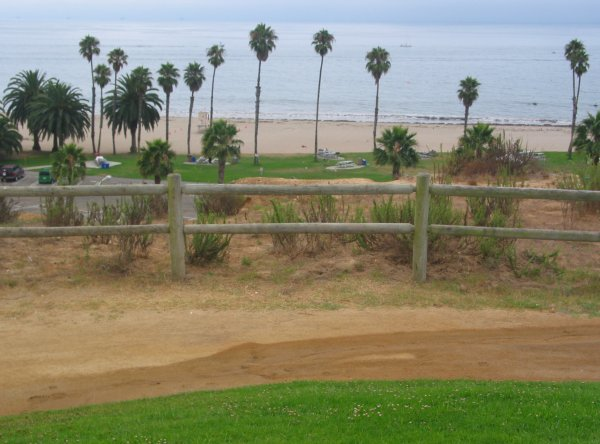 View of Leadbetter Beach from Santa Barbara City College.