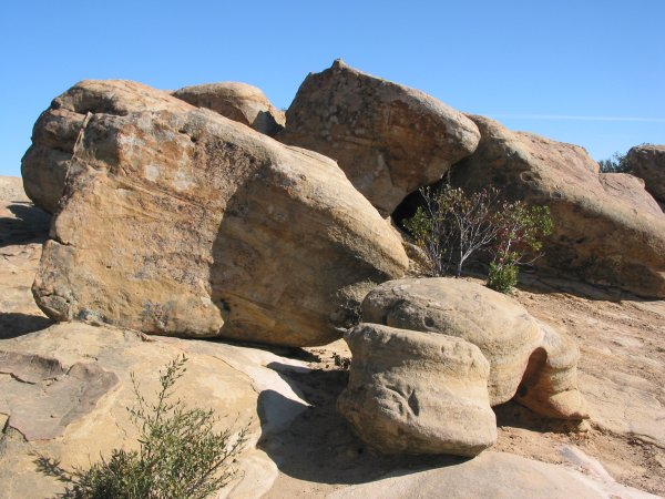 Boulders in all shapes and sizes.