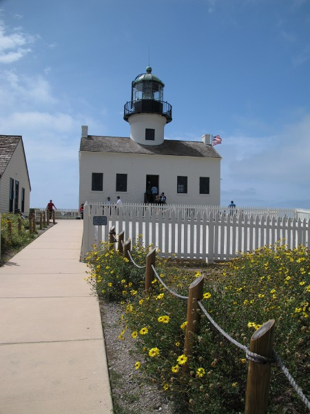 The Old Point Loma Lighthouse, built in Cape-Cod style.