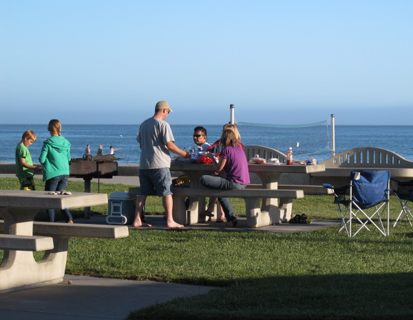 BBQ by the west end of the beach.