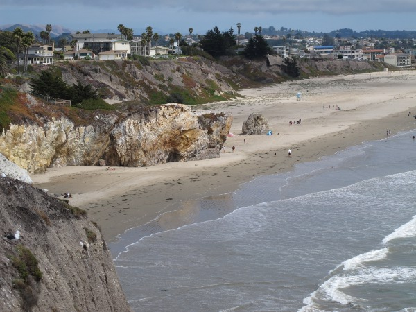 Pismo Caves, seen from above, from Shell Beach Panoramic Walk (see entry).