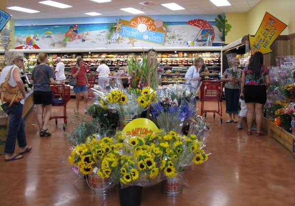 Sunflowers for sale at Trader Joe's.