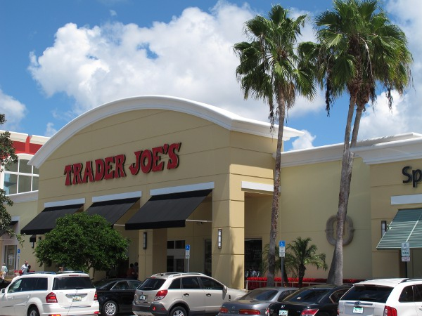 The inviting exterior of Trader Joe's- feels just like home to a Californian!