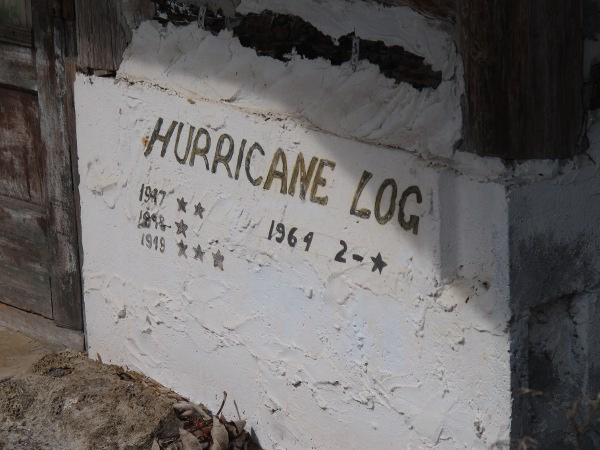 Hurricane log kept by Trapper Nelson.