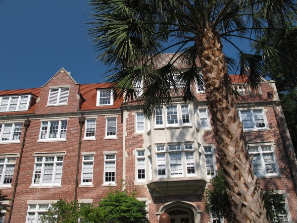 Lovely brick building with white trim at University of Florida.