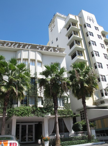 South Seas Hotel, an art deco hotel on Collins Ave.